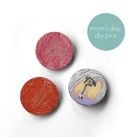 Mother's Day DIY Gifts and Crafts for Kids to Make - DIY Wooden Brooches or Pins