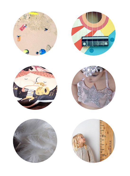This weeks top links: miniature people photography, Kid Made Modern Ukulele, Spanish Story Pillows, Vintage Circus Girl, What's your Label, Growth Chart
