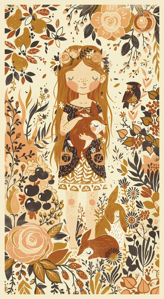 Teagan White Sweet children's Illustrations - Nature Girl