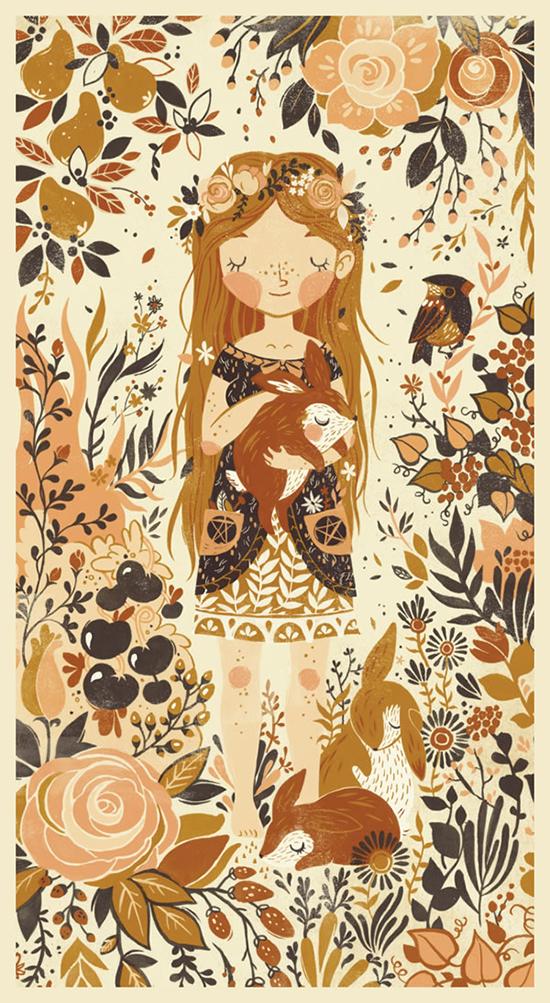 Teagan White Sweet children's Illustrations - Nature Girl