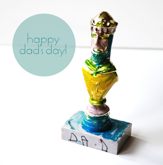 Father's Day DIY Vintage Retro Trophy for kids to make - the perfect gift!
