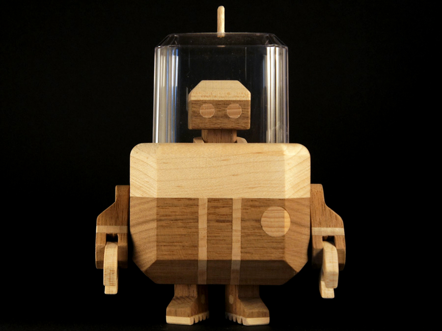 Wood Robot Designer Toys from LouLou and Tummie