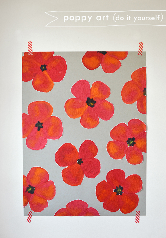 Diy Painted Poppy Art Kids Summer Flower Crafts Diy Painting For