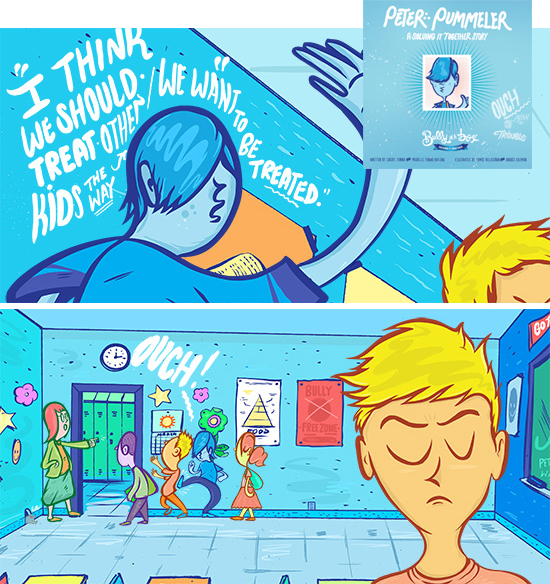 Bully in a Box - digital ebooks for your iPad and iPhone with a modern anti-bullying story