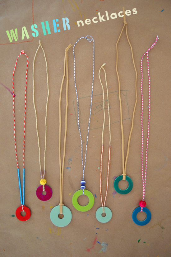 learning kids craft upcycled kid necklace made for fun fantastic