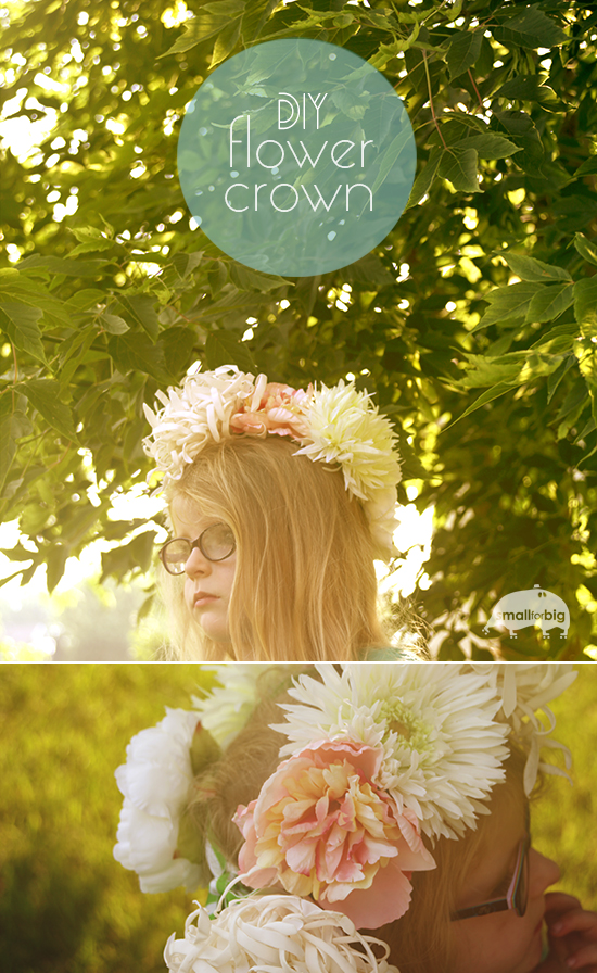 DIY Flower Fairy Boho Crown for Kids - Fabric Flowers, Ribbon, and a Glue Gun