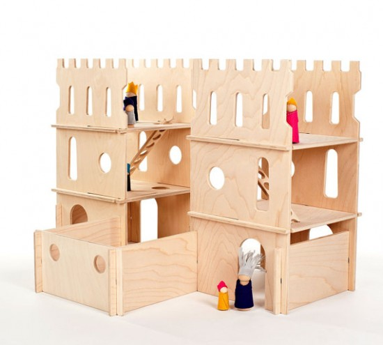 Modular Handmade Wooden Castle Playset from Manzanita Kids on Etsy - Montessori Waldorf