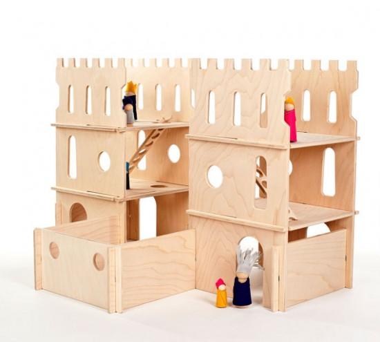 Modular Handmade Wooden Castle Playset from Manzanita Kids on Etsy - Montessori Waldorf