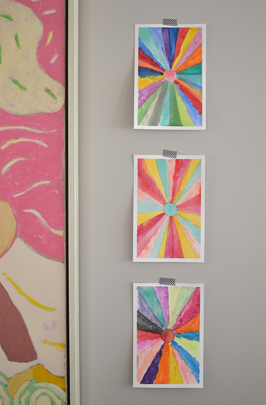 Diy sunburst paintings back to school art math for Watercolor painting and projects