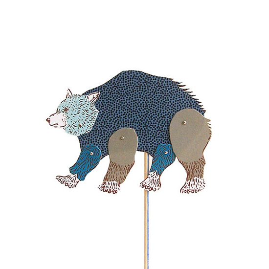 Bear DIY Paper Puppet Illustrated by With Her Animal Poetry