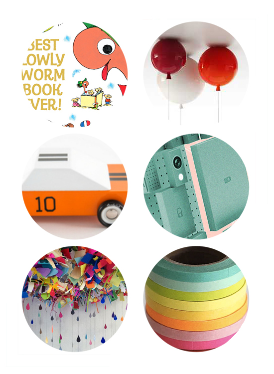 Top links this week include New Richard Scarry Book, Balloon Lights, Mo-To Wooden Cars, Phone Bloks concept, Unique party decorations, and a Washi Tape giveaway.