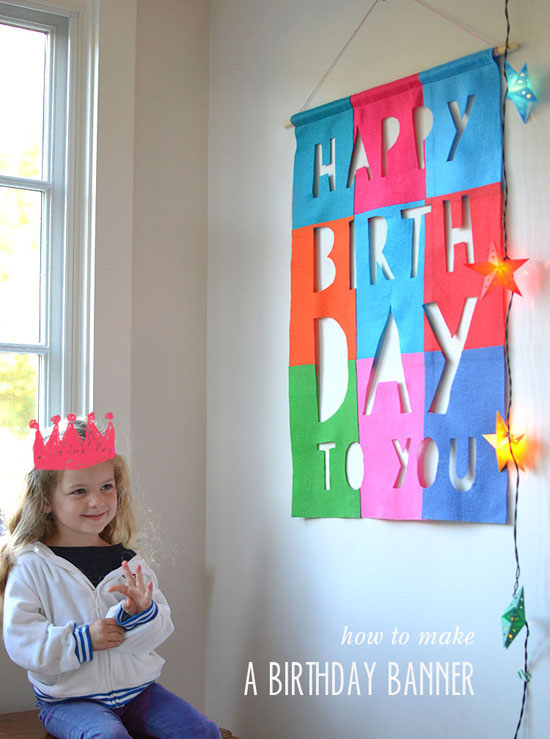 DIY felt birthday banner (no sew) | smallforbig.com