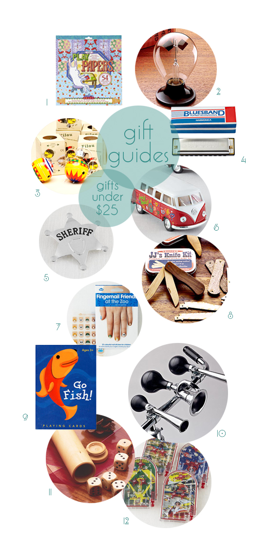 Gift Guides for kids - modern affordable stocking stuffer classic toys under $25