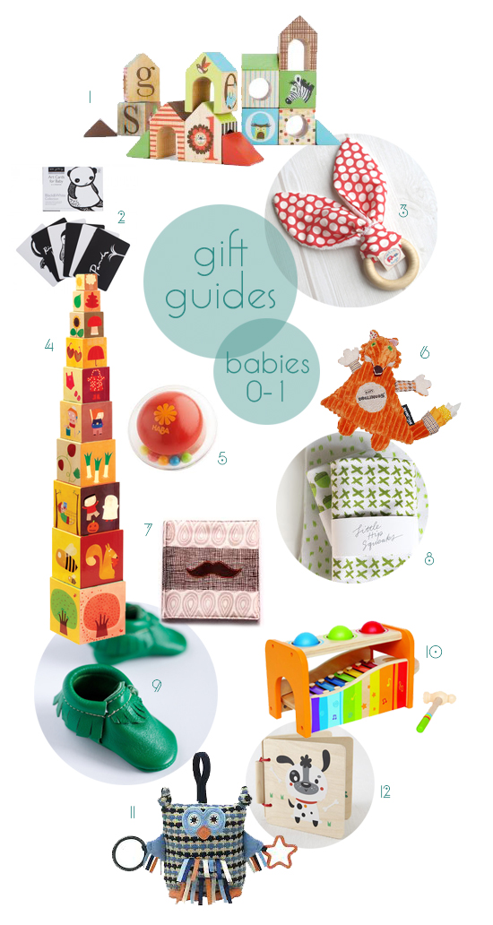 Post image for gift guides 2013: babies 0-1