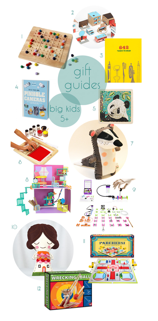 Post image for gift guides 2013: kids 5+