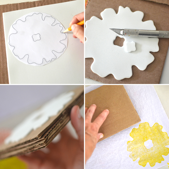 DIY hand printed napkins {with free stencil} | @smallforbig.com