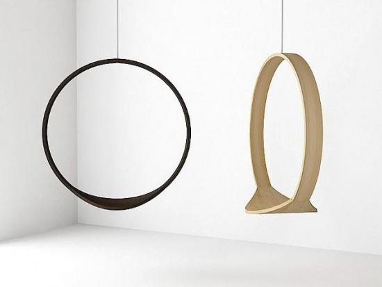 Indoor circle swing ivona kosicka furniture design for Circle swing chair