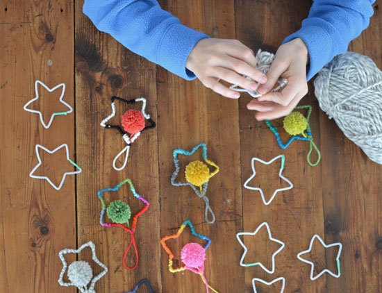 diy yarn star ornaments holiday craft small for big