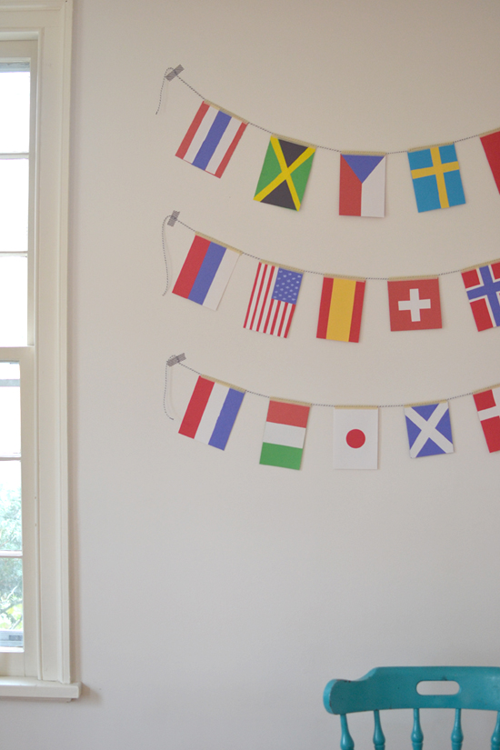 olympic flag garland ~ craft and learn about the world ~ sochi 2014 | small for big