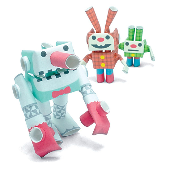 Piperoid Paper Toys - Modern Craft Kits for Kids - Robots Crafts