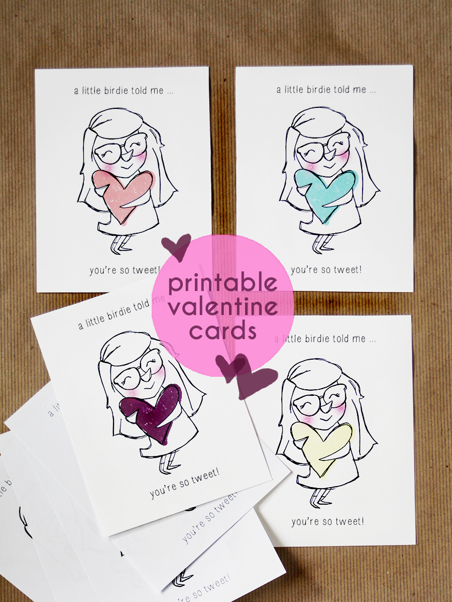 Free Printable Valentine Cards For Kids Diy Craft Valentine S