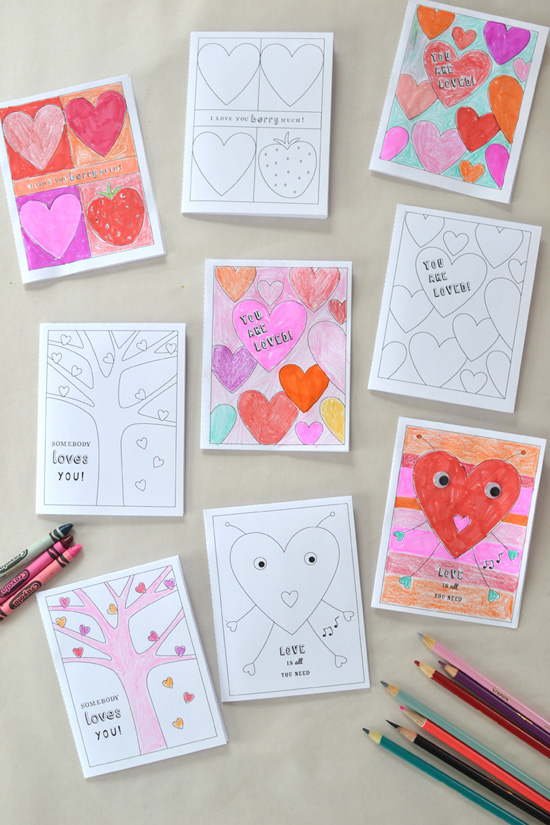 valentine coloring pages {printable} | small for big