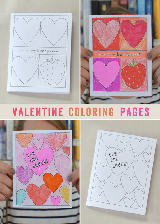 Valentine Coloring Pages - Easy Printable for Kids - Free Download | Small for Big
