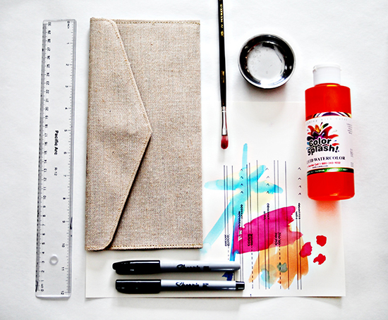 watercolorclutch-supplies