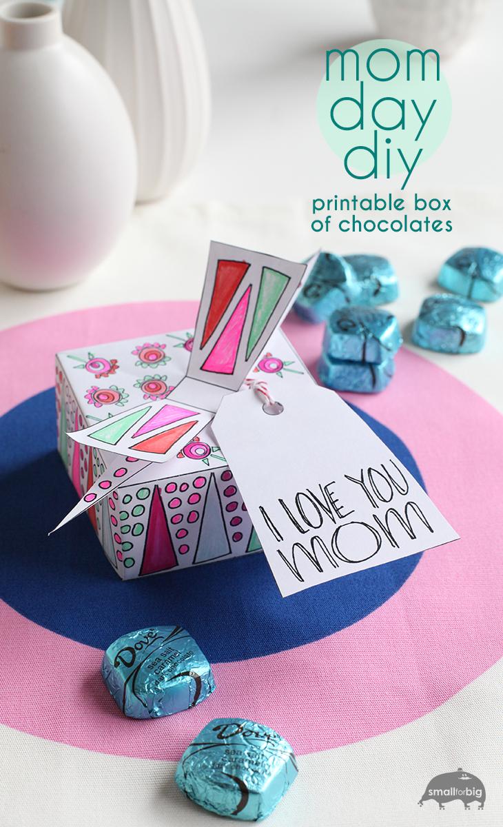 Mother s day free printable chocolate box gift diy
