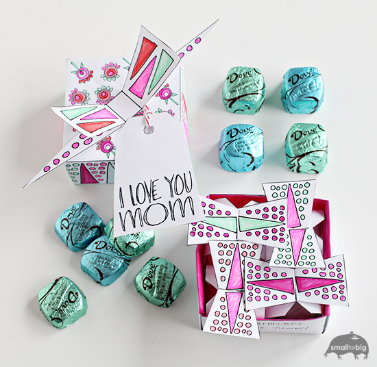 Mother S Day Free Printable Chocolate Box Gift Box Diy
