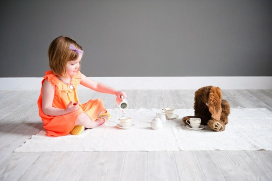 girl having tea - The Littles fashion and hair accessories for girls