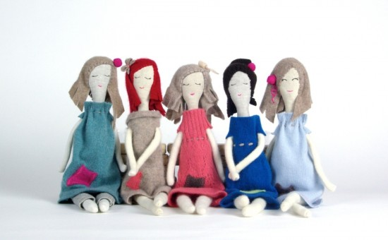 Snuggly Ugly Limited Edition Kallio Rag Dolls with upcycled and cashmere fabrics