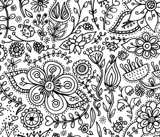 coloring page wallpaper decor for kids spoonflower