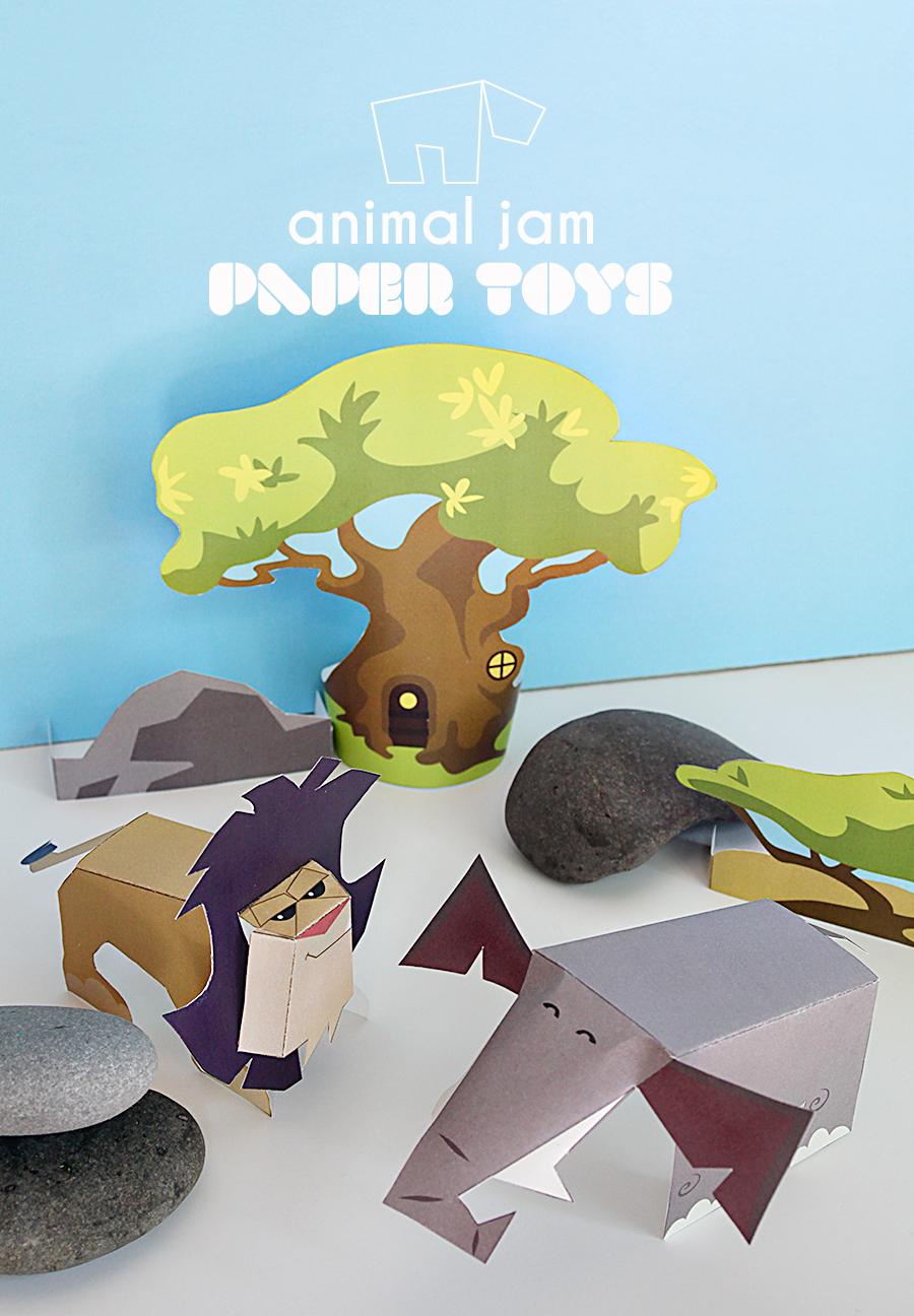 ... Animal Jam Printable Toys - Online Games for Kids - DIY Printable Toys
