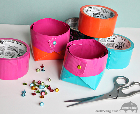 Scotch Duct Tape Craft Make Diy Storage Boxes Quick