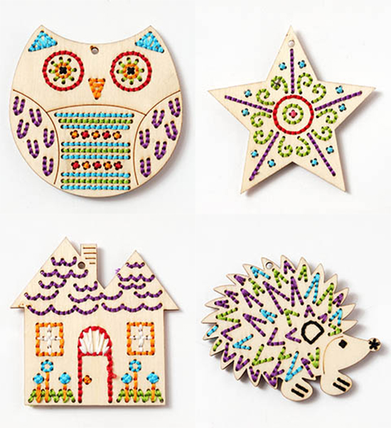 Craft Kits For Kids Wood Stitchables Lacing Toys Handmade