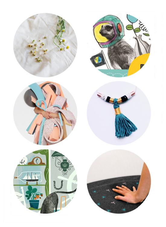 This week's top links: homemade tea, kids doodle printables, layered art, diy necklace, illustration, living room yoga mat.