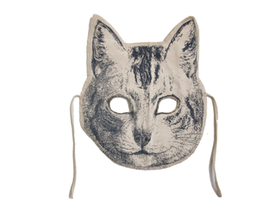kids handmade canvas print animal masks