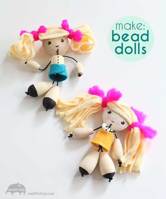 DIY Wood Bead Dolls – How To Make Dolls – Artterro Craft Kits | Small for Big