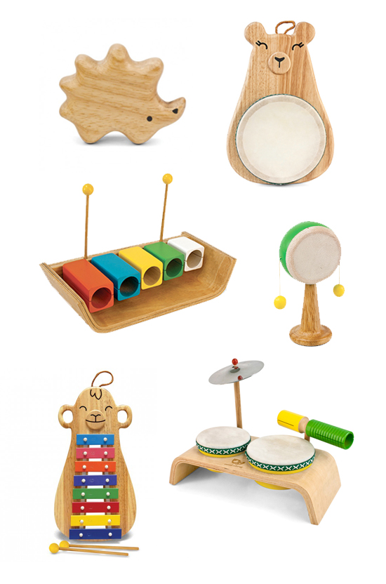 Musical Toys For Toddlers : Green tones musical instruments eco friendly music toys