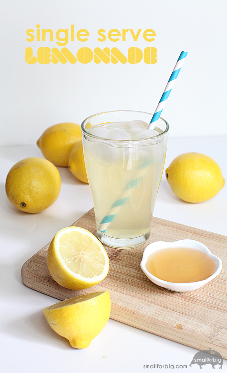 SIngle Serving Sugar Free Lemonade recipe - agave sweetened