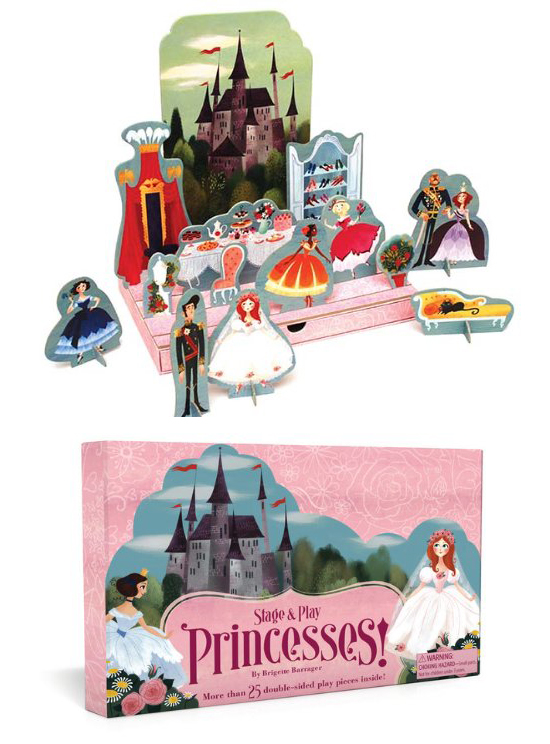 stage and play princesses - storytelling travel toys for kids | Small for Big