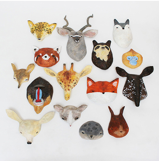 Abigail Brown Paper Mache Animal Masks