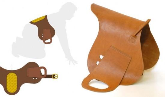 Corripapa ride on toy saddle for dads design concept