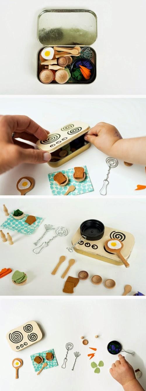 Mommo Design Blog - mini kitchen toy in a mint tin
