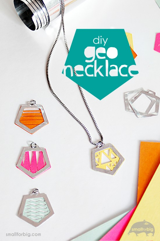 DIY Aluminum Geometric Necklaces using the Cricut Explore