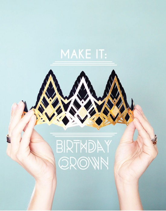 make It: diy paper birthday crown's for a roaring 20's party