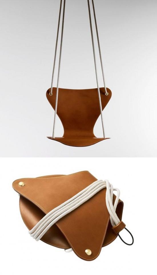 Fritz Hansen & Louis Vuitton leather swing