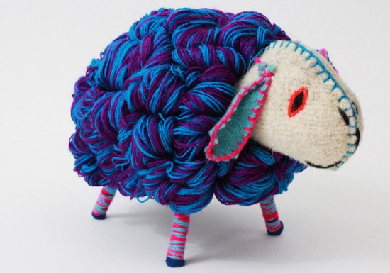 twoosies handmade mayan stuffed toys - sheep and lions   Small for Big