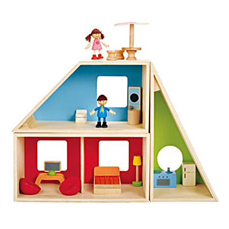 Hape wooden toys - Geometrics House - First Dollhouse for Kids | Small for Big